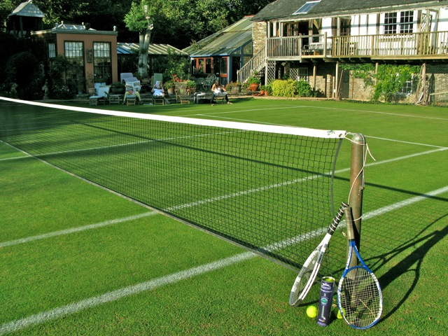 How To Make Tennis Court In Backyard : category1259onsitegrasstenniscourtjpg